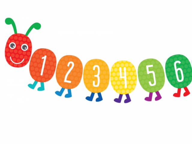 Caterpillar clipart number. Free download clip art