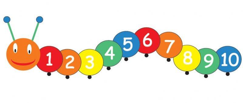 Free mathematics download clip. Caterpillar clipart number