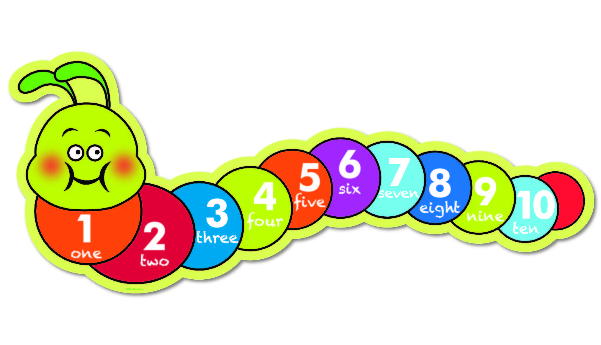 Numbers free download best. Caterpillar clipart number