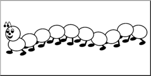 Caterpillar clipart number. Clip art counting b