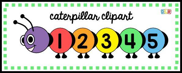 Caterpillar clipart number. Build an alphabet clip