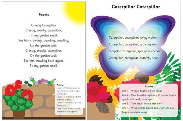 Poems prek spring song. Caterpillar clipart poem
