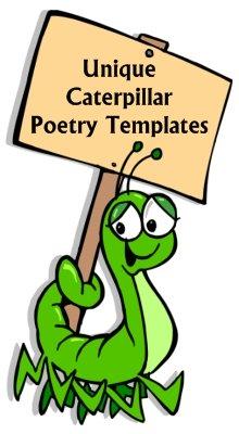 Poems unique shaped poetry. Caterpillar clipart poem