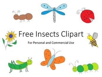 Insects clip art free. Insect clipart spring