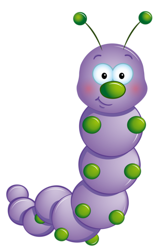 purple in cial. Caterpillar clipart transparent background