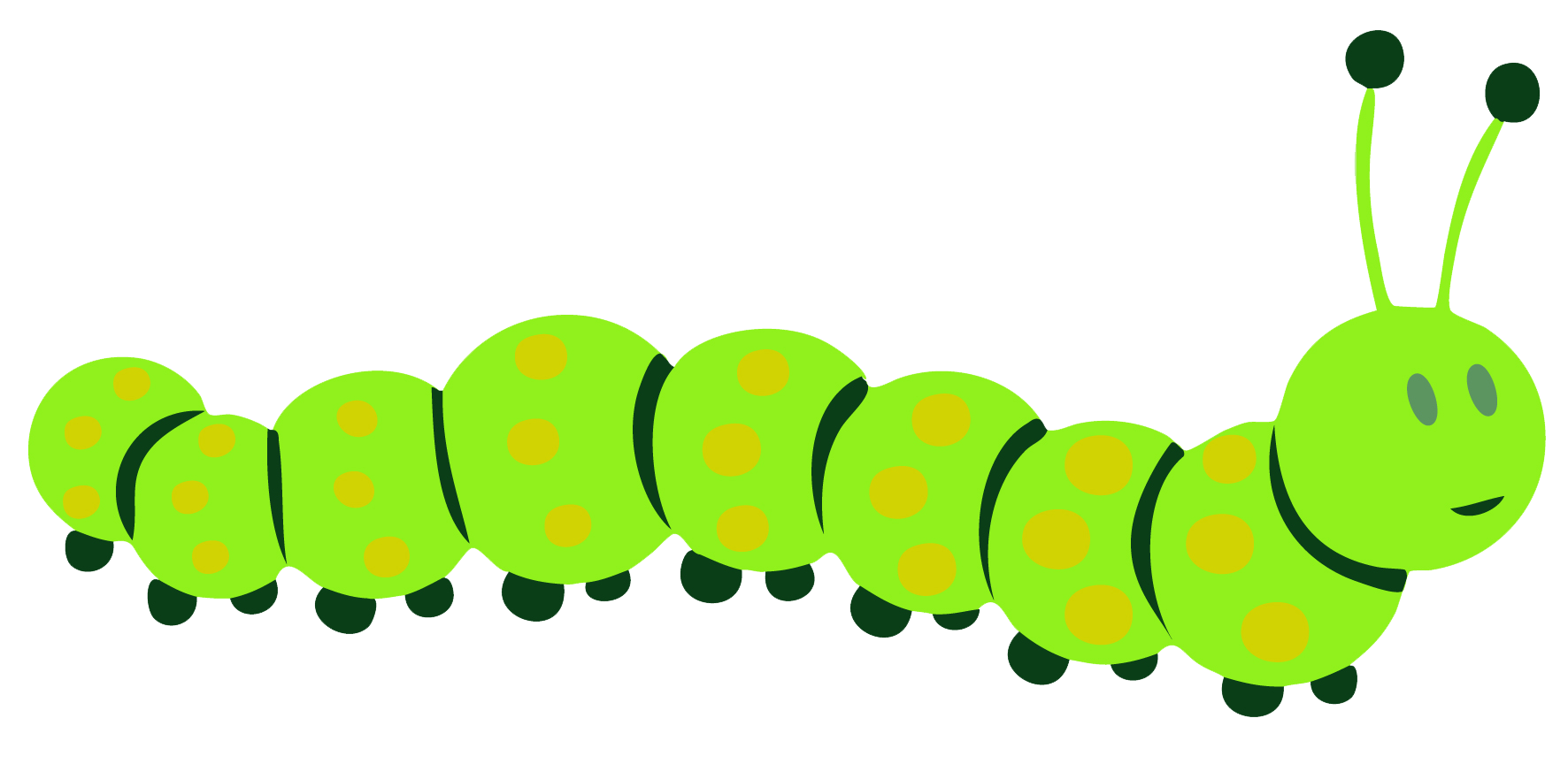 collection of caterpillar. Circle clipart butterfly