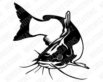Etsy svg fish fishing. Catfish clipart