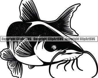 Clip art etsy . Catfish clipart