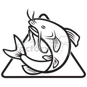 clip art graphics. Catfish clipart black and white
