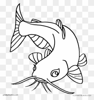 Catfish clipart black and white. Free png clip art