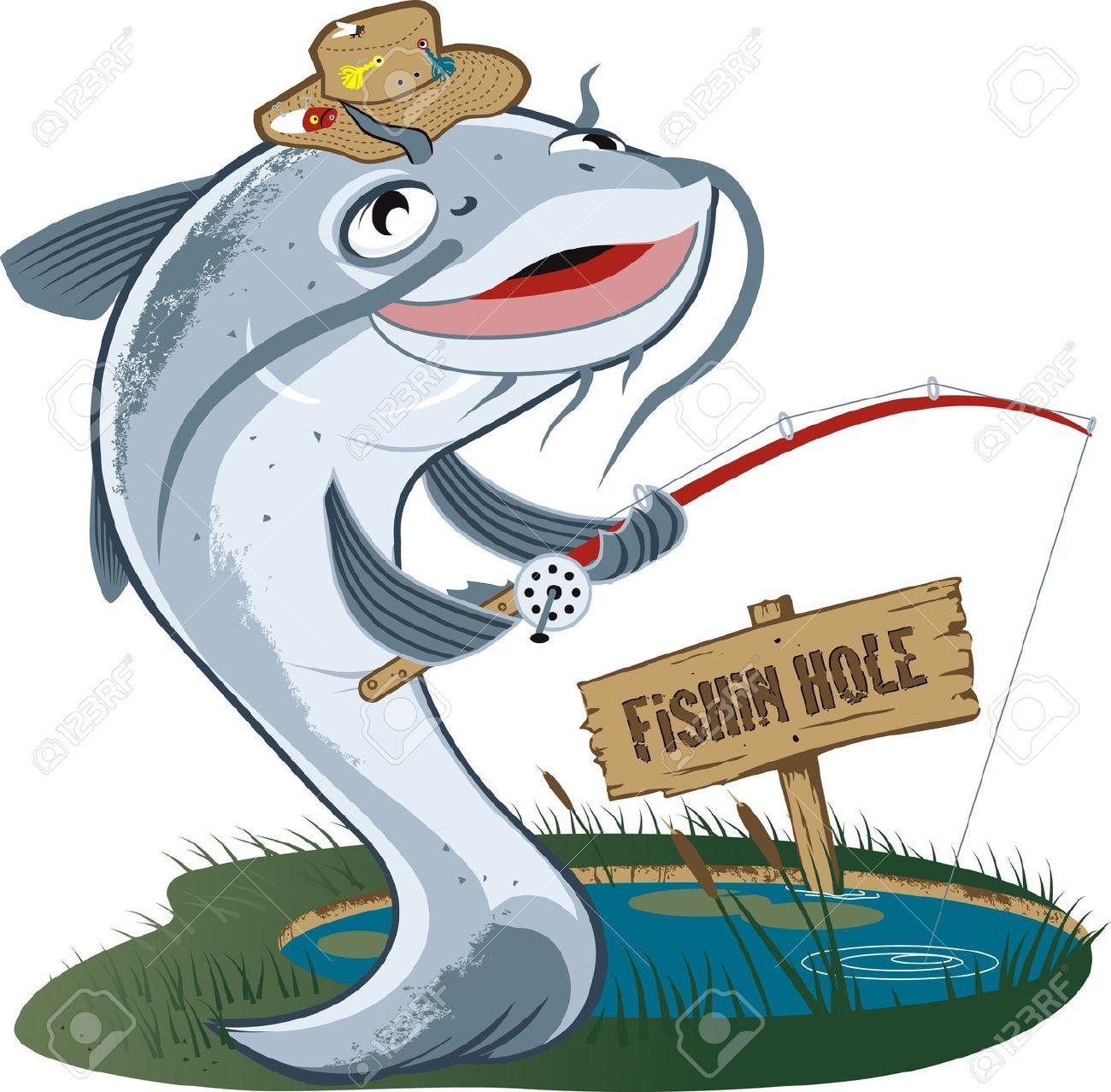 Stock vector illustration and. Catfish clipart cartoon