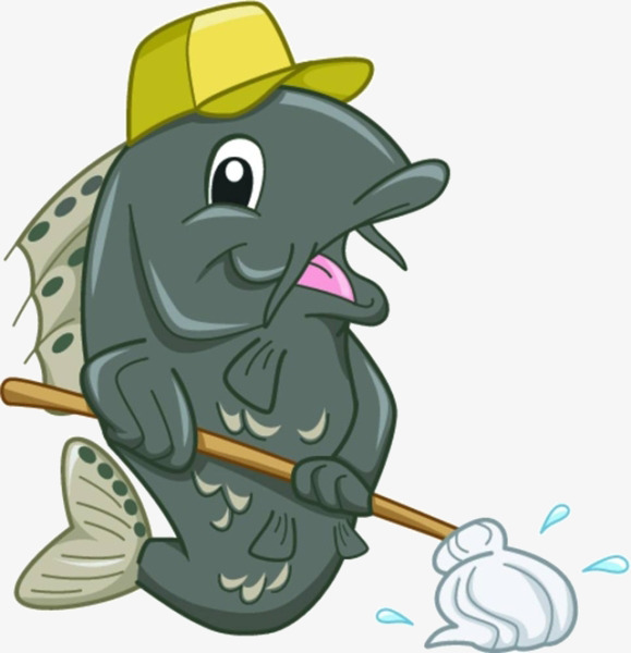 Catfish clipart cartoon. Material mop png image