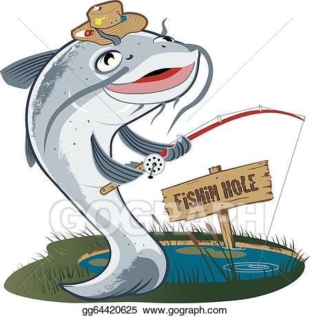 Fishing clipart fishing tournament. Vector stock catfish fisherman