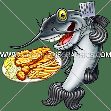 Fish production ready artwork. Catfish clipart catfish fry