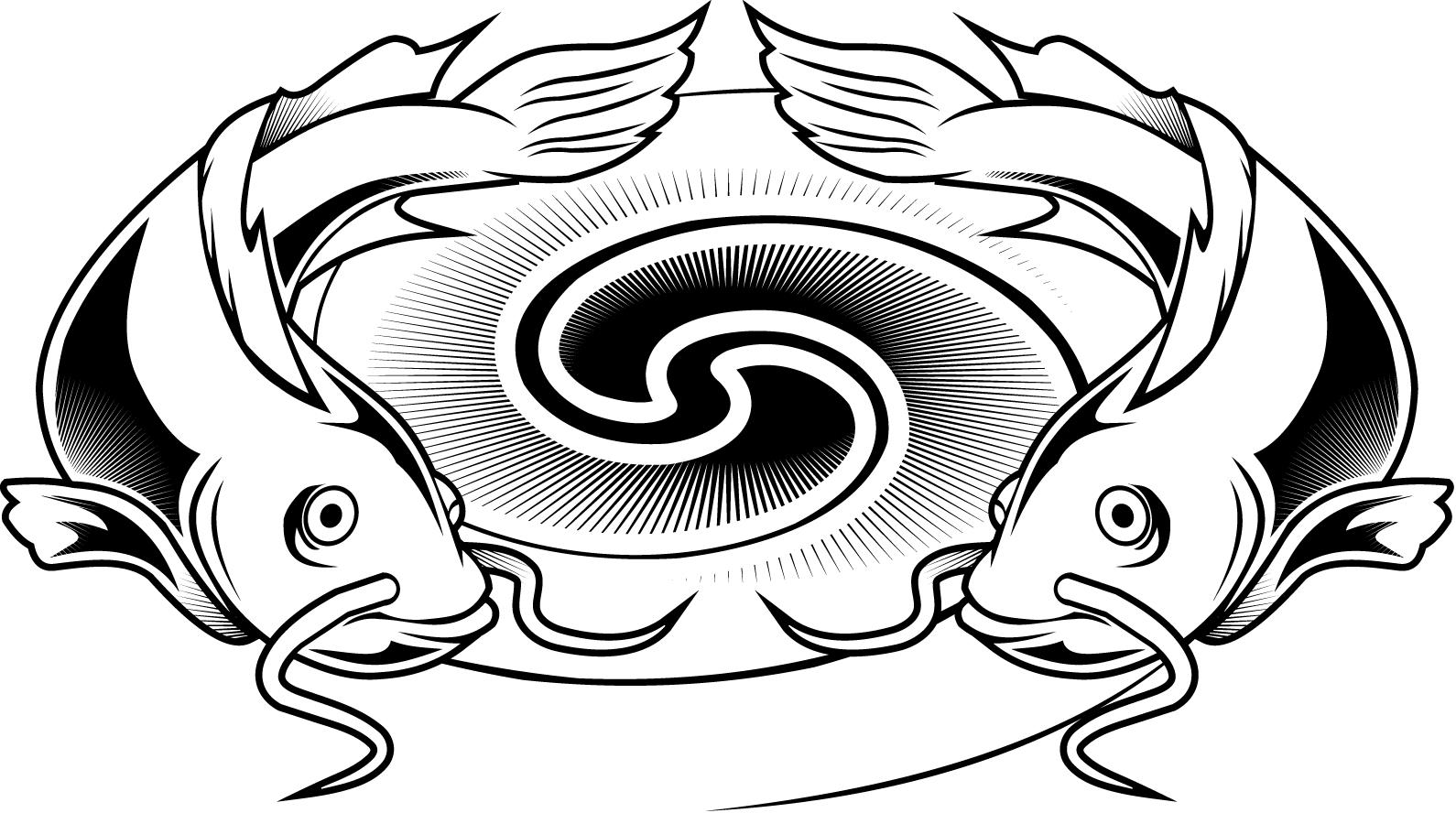 Catfish clipart coloring page. Colouring pages of a