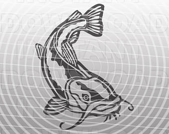 Etsy fishing svg filecatfish. Catfish clipart game fish