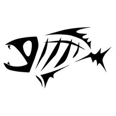 Art for g rods. Catfish clipart skeleton