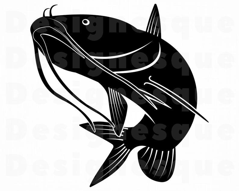 Fishing fish files for. Catfish clipart svg