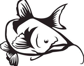 Catfish clipart svg. Etsy file