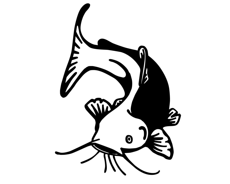 Fishing decal outdoorsman fish. Catfish clipart svg