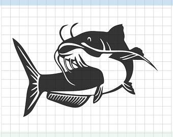 Etsy . Catfish clipart svg