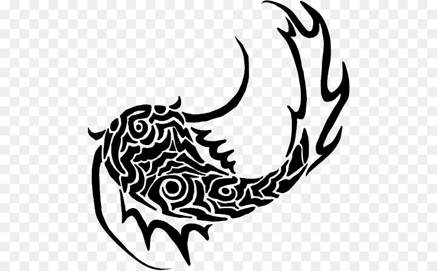 Tattoo flash clip art. Catfish clipart tribal