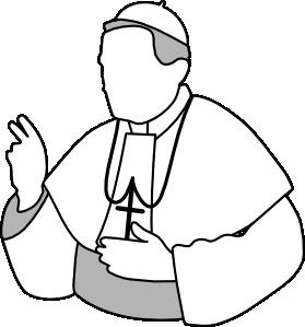 Catholic clipart cartoon. Pope clip art at