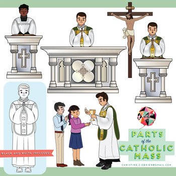 Parts of the clip. Catholic clipart catholic mass