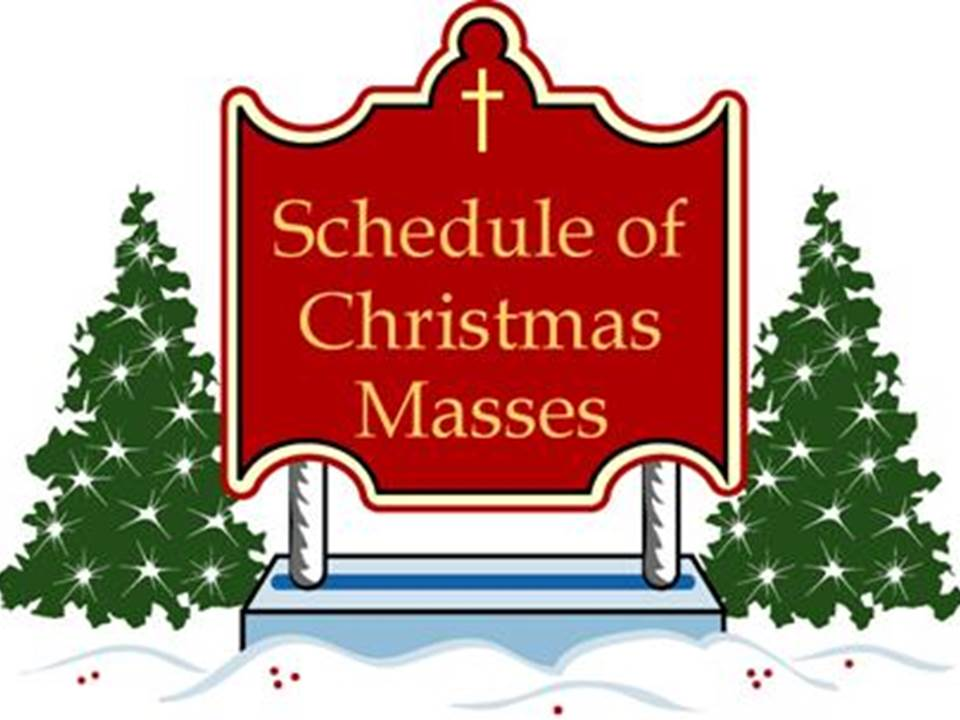 Catholic clipart christmas. Join us for mass
