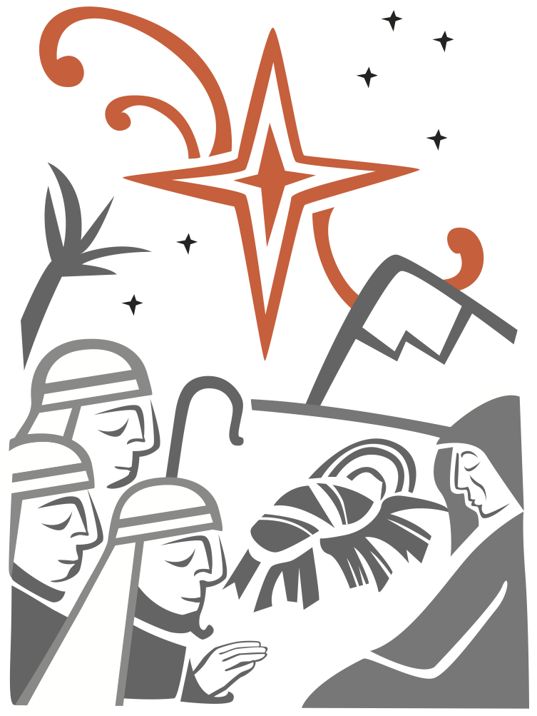collection of catholic. Christmas clipart symbol
