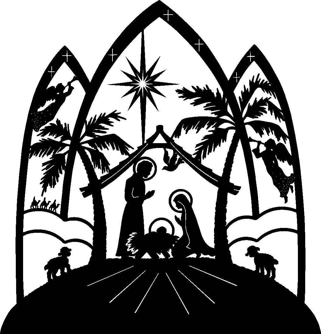 Free catholic christmas cliparts. Bethlehem clipart black and white