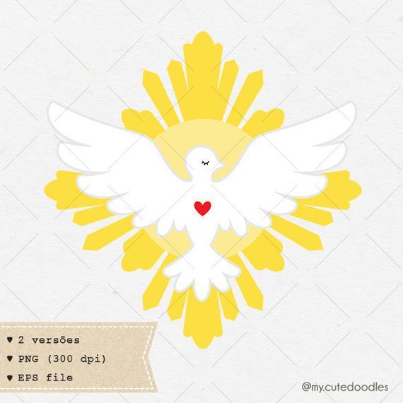 Catholic clipart cute. Holy spirit dove christian