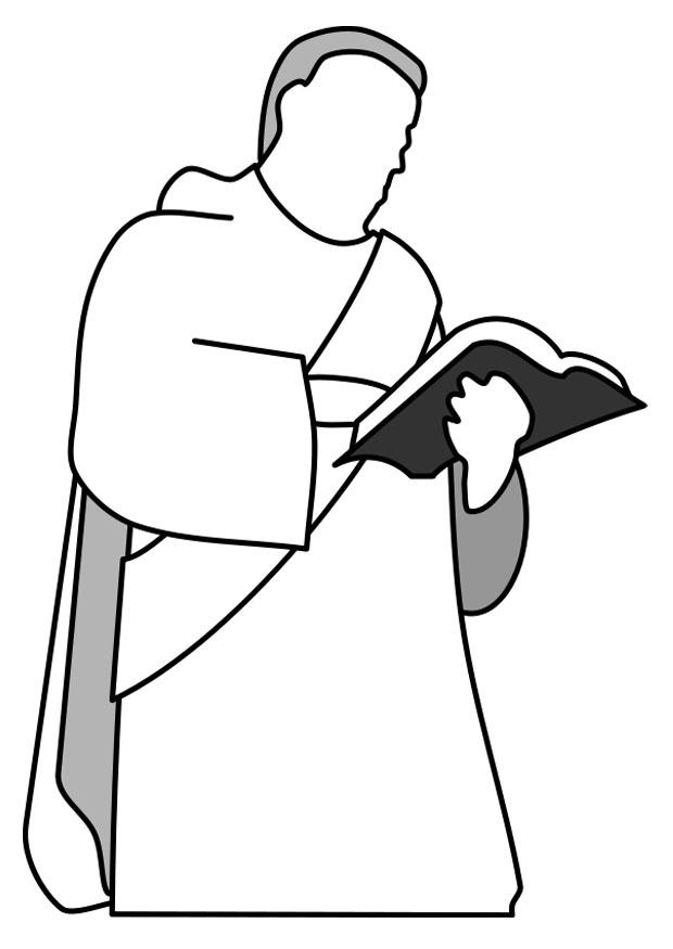 Coloring page img download. Catholic clipart deacon