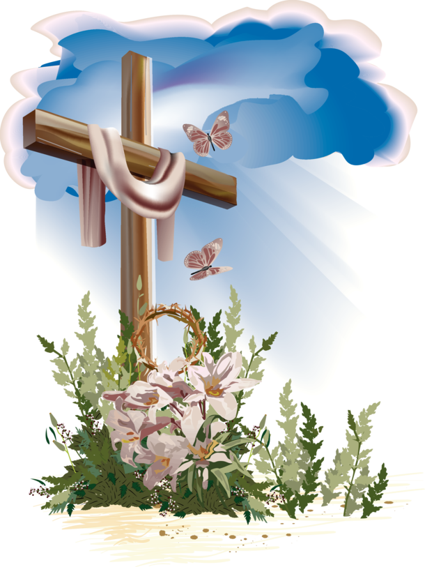 Catholic clipart easter. Cross resurrection st anthony