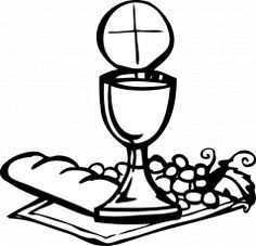 Holy communion coloring pages. Catholic clipart eucharist