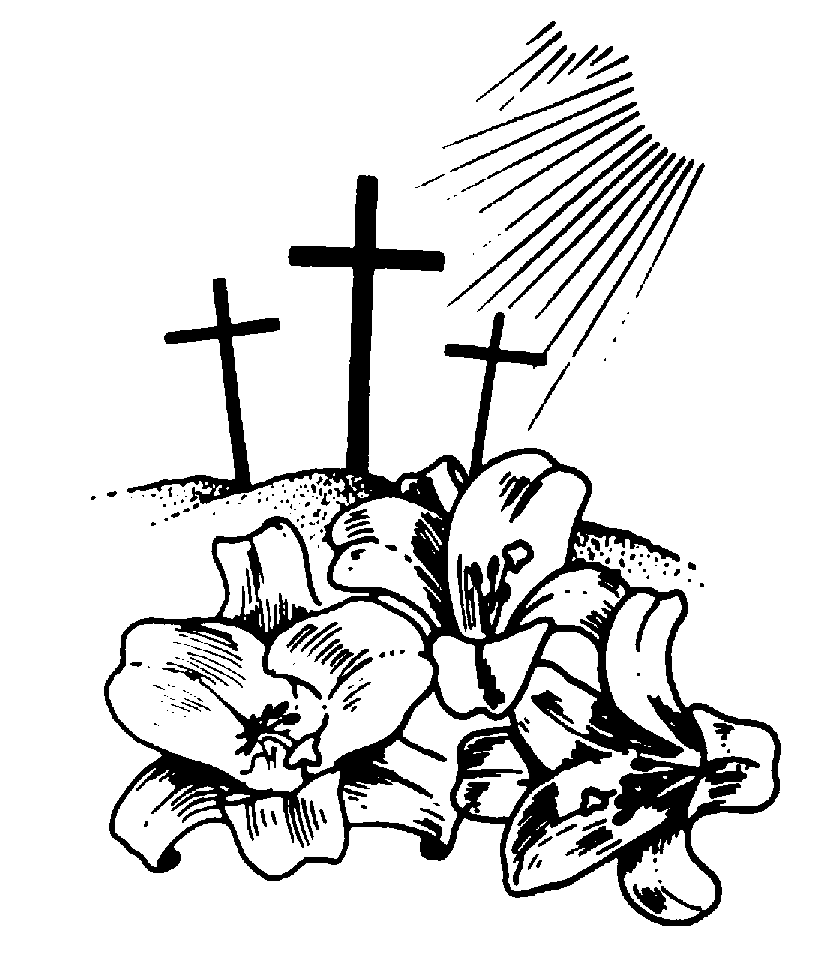 Christian clipart black and white. Free catholic flower cliparts