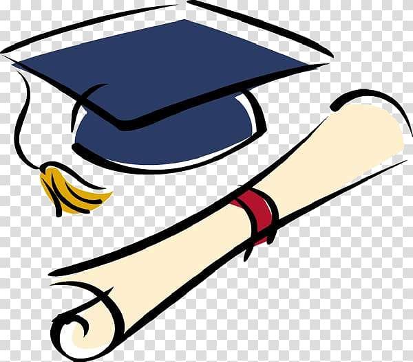 Mortar board and diploma. Graduate clipart high school graduate