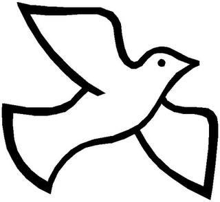 Catholic clipart holy spirit. Dove black and white