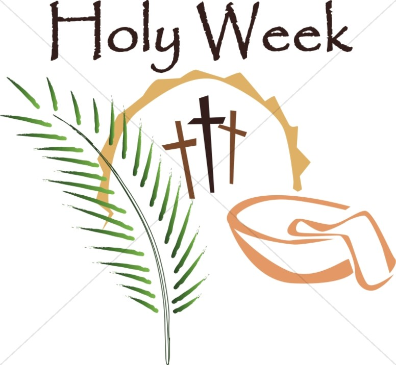 Cross clipart holy week. In color lent word