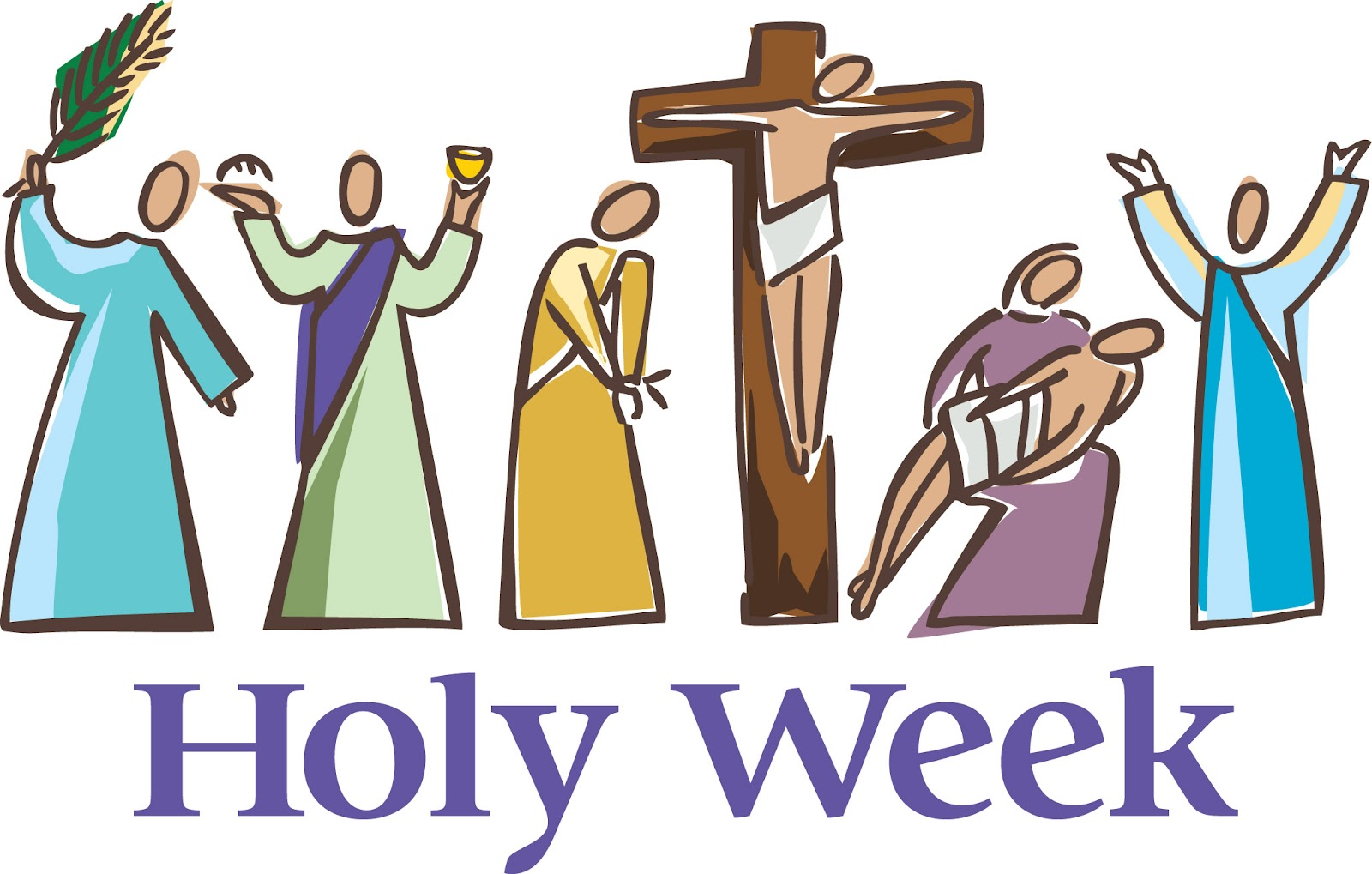 Catholic clipart holy week. Christian our lady s