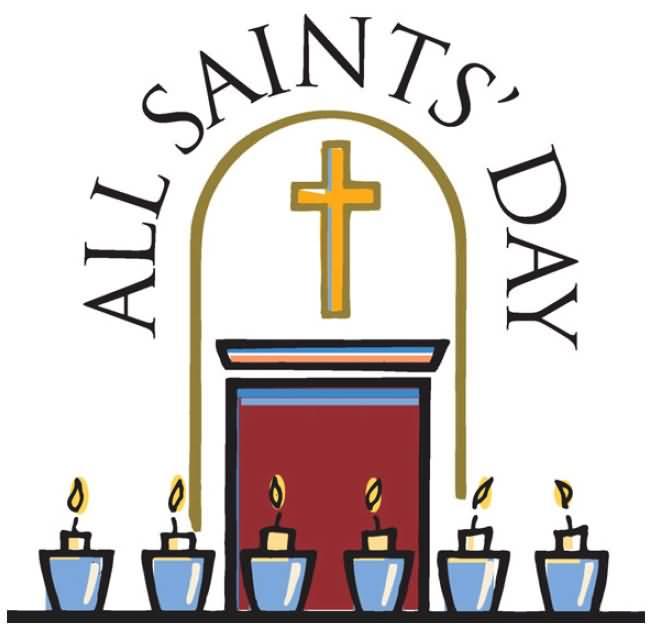 All saints day image. Catholic clipart lutheran church