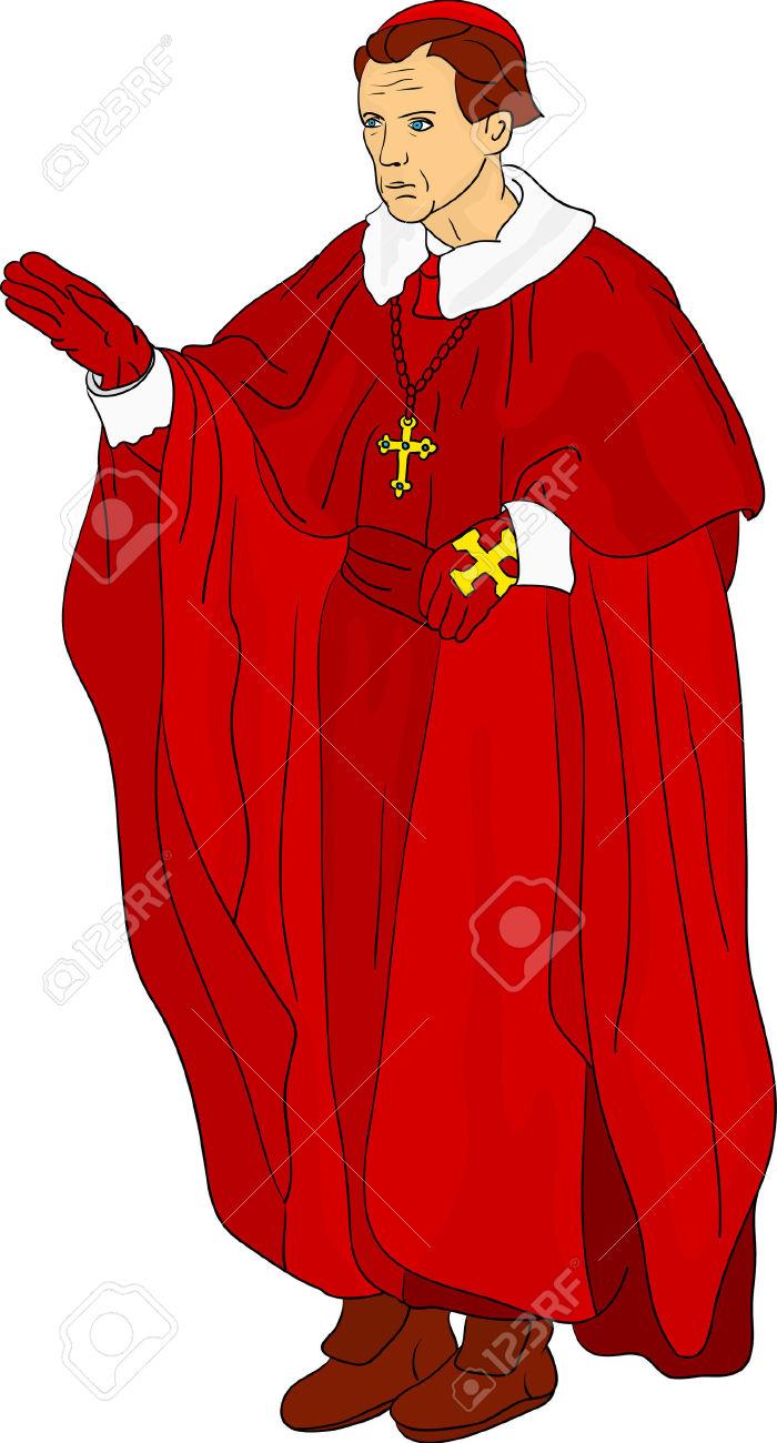 Catholic priest drawing at. Cardinal clipart church