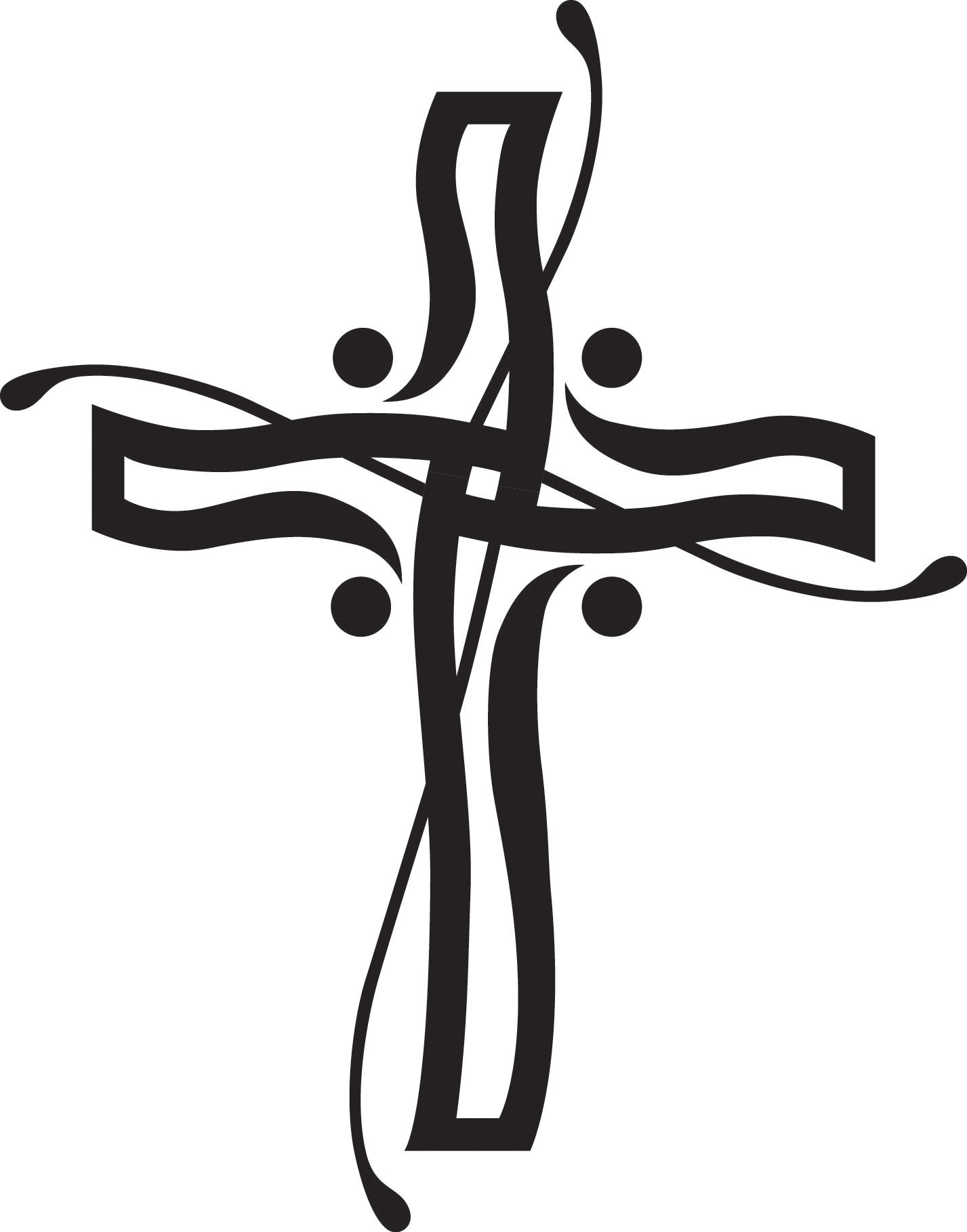 Catholic funeral free download. Clipart cross spring