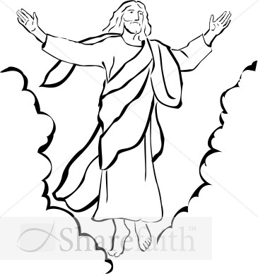 Catholic clipart resurrection. Jesus black and white