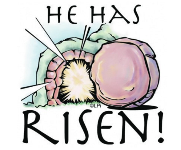Catholic clipart resurrection. The lord has risen