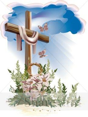 Easter cross forgiveness and. Catholic clipart resurrection
