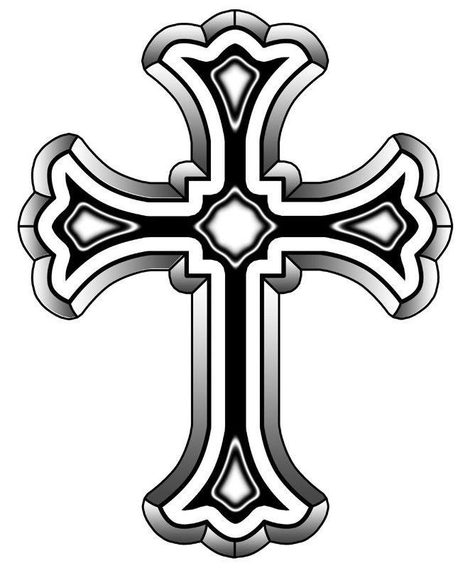 Roman catholic cross designs. Crucifix clipart designer