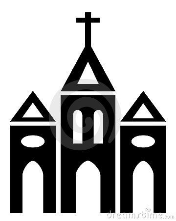 Catholic clipart silhouette. Church clip art at