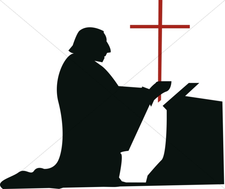 Catholic clipart silhouette. Priest at getdrawings com