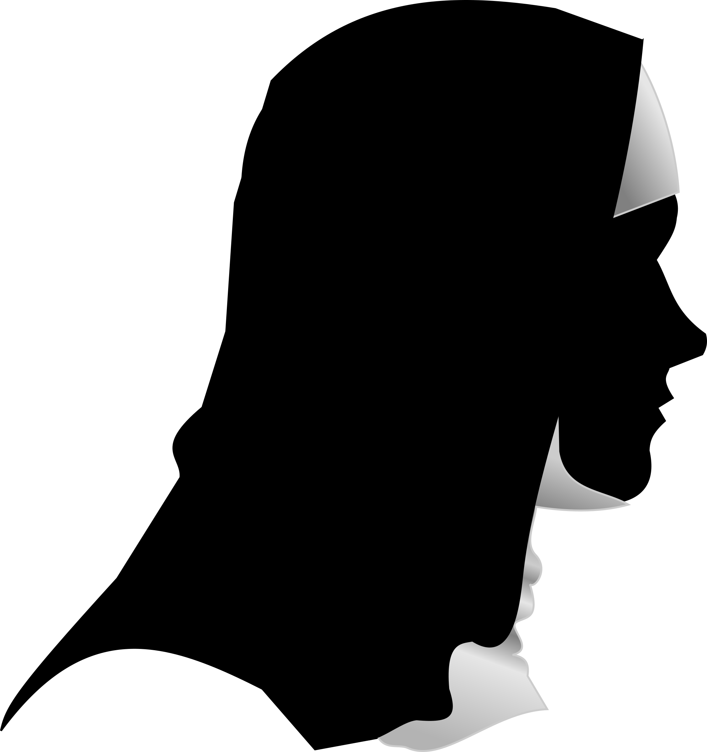 Nun profile big image. Catholic clipart silhouette